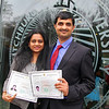 Deepa Chandrasetaran and Sivakumar Natanasabapathy from India now living in Longmeadow MA. show off their certificates of citizenship after the naturalization ceremony held at Fitchburg State University on Thursday afternoon. SENTINEL & ENTERPRISE/JOHN LOVE
