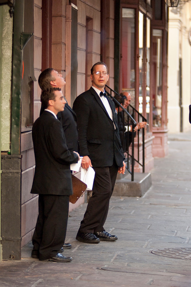 French Quarter- Waiters before shift starts