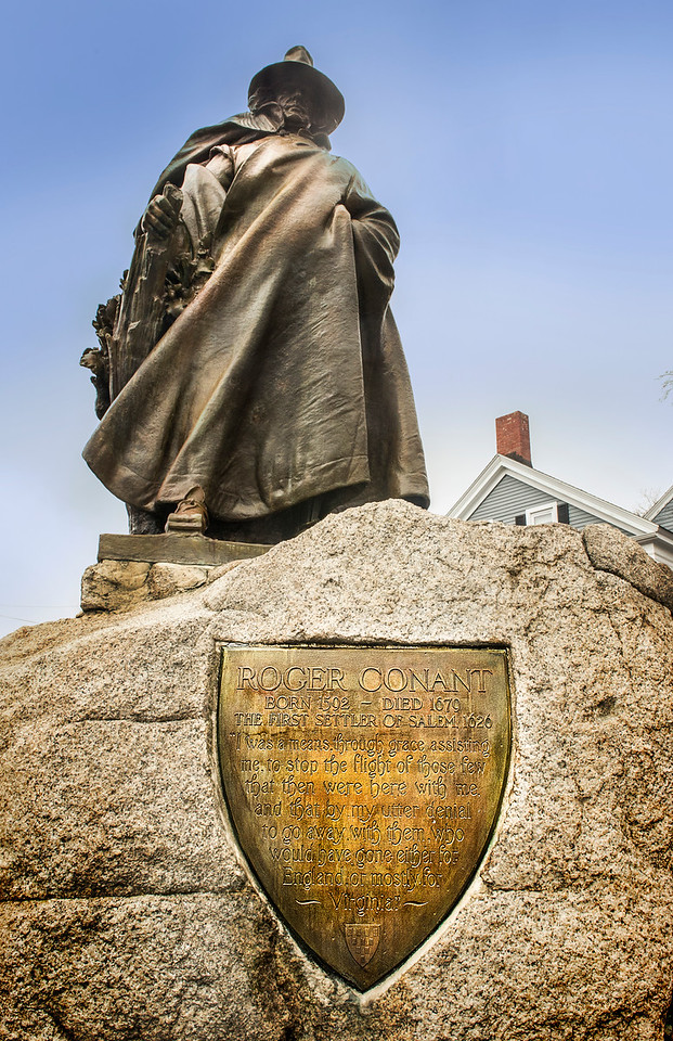 Monument to Roger Conant, first settler of Salem, Massachusetts
