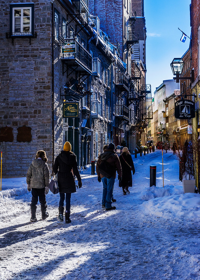 Quebec City in winter, December 2012