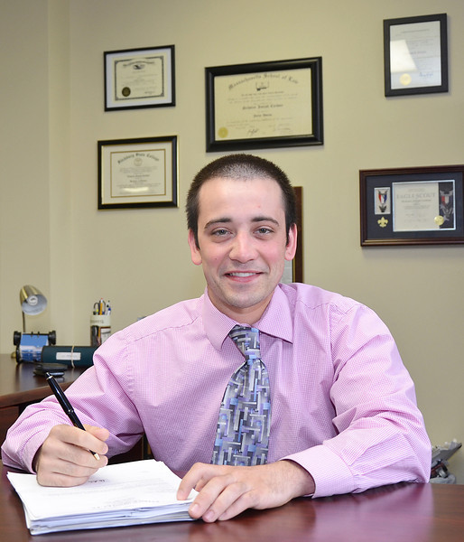 Attorney Nick Carbone at the offices of Boyle & Carbone, P.C., located at 625 Main St. in Fitchburg. SENTINEL & ENTERPRISE / Ashley Green