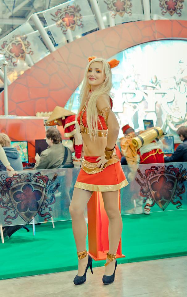 Girl at Igromir 2011