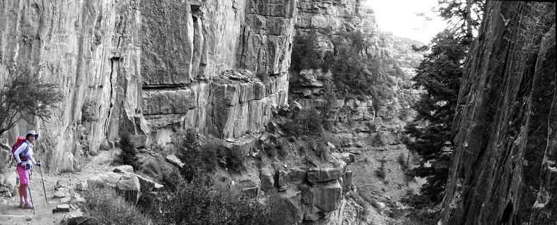 18 juin 2007, descente du Grand Canyon North Rim , vers Roaring spring