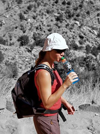 14 sept 2005, descente de Grand Canyon south rim vers Indian Garden