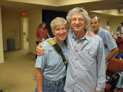 Beth Epstein and Dan Richter, Mark Goebel behind. .. [Mark also met Clyde at a Sierra Club camp.]