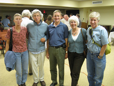 L-R: SPSers Tina Bowman, Dan Richter, Larry & Barbee Tidball, and Beth Epstein.