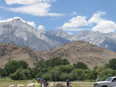 Mt Whitney in the center (Lone Pine Pk at left).
