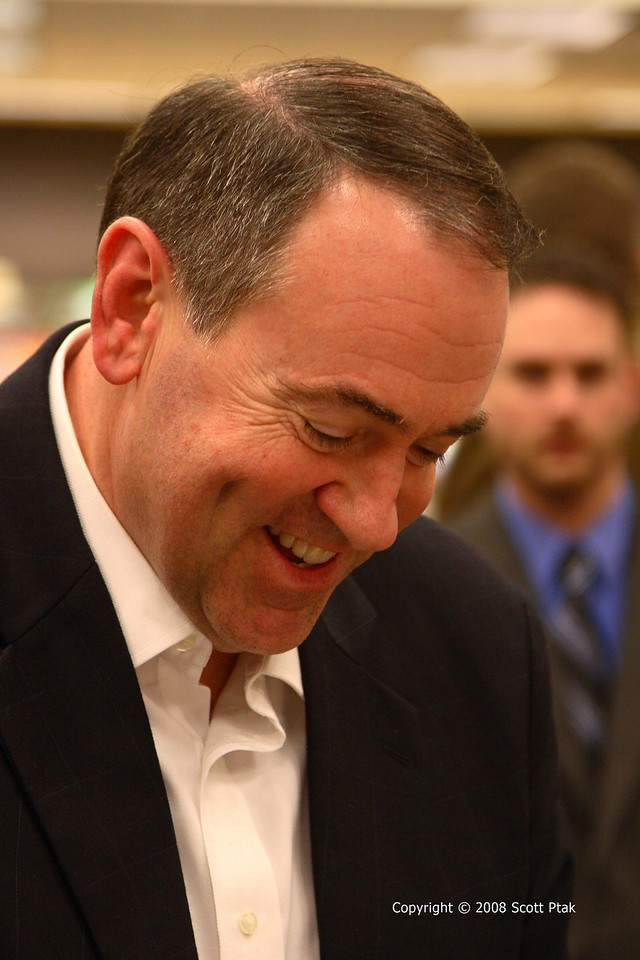 Former Presidential Candidate Governor Mike Huckabee at book signing in Chattanooga, TN