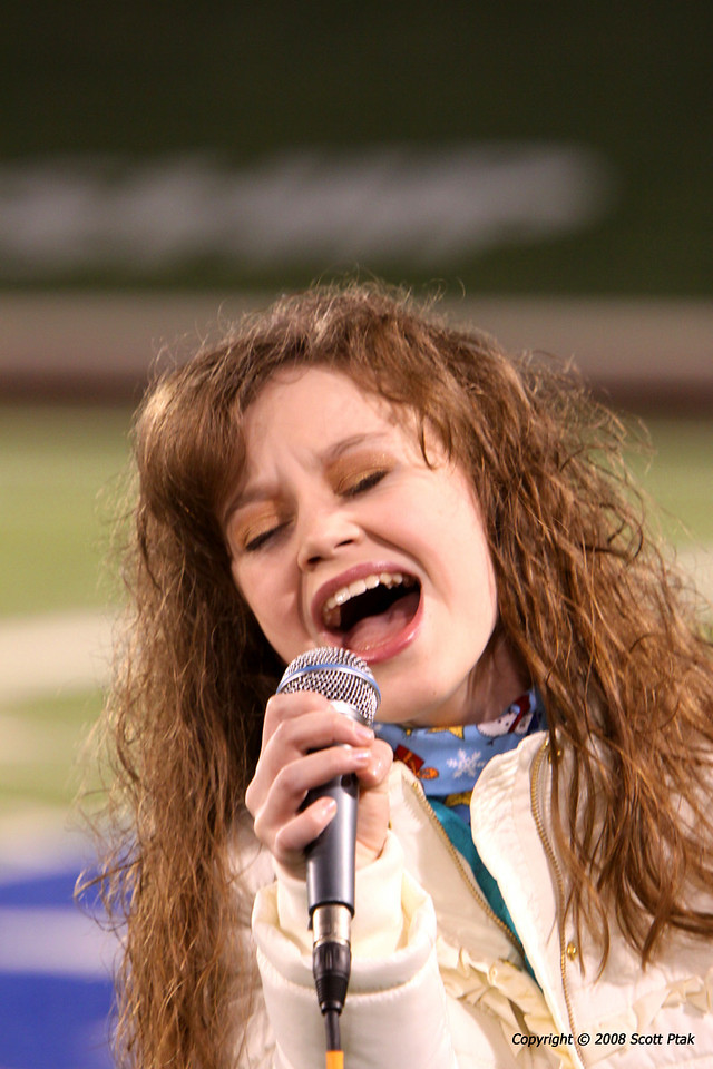 Mackenzie Morgan - 11 year old singing sensation performing at the NCAA National Title Football Game.