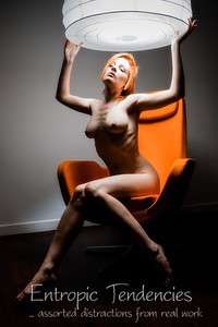Ulorin Vex, nude, orange chair