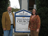 Rev. Jerry Smith, District Superintendent of the Great Northern District of the California Nevada Conference of the United Methodist Church, and Rev. Lisa Warner-Carey, Pastor of the Ukiah UMC and Leader of the Lake Circuit, on a recent visit to the Lower Lake and Clearlake UMCs, which I serve as pastor (just like the sign sez).