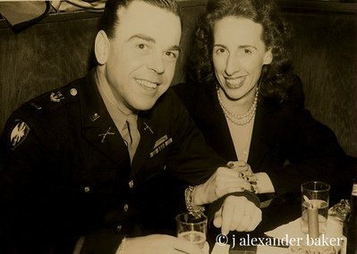 My mom and dad the night her returned home from Europe at the end of WWII.