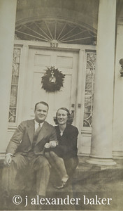 My Uncle Fred and Aunt Marion Thompson on the front steps at my grandparents house in Durham, NC.