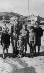 Hugh, Papa, Sara, Jon, Cousin David and Pete. Paignton or Torquay?