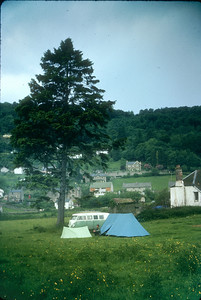 Wye Valley, 1965: the encampment, with Jon