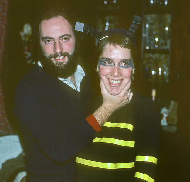 """Howard and Ruth (1955-2008) at our Halloween Party in 1980.<br /> <br /> """"And though I cried I was so proud to love [someone] so fair."""""""