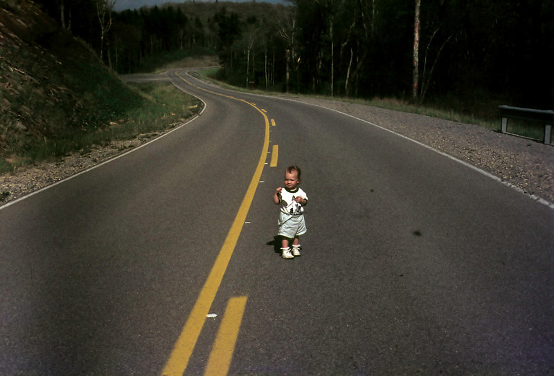 Neesham in the road, 1976