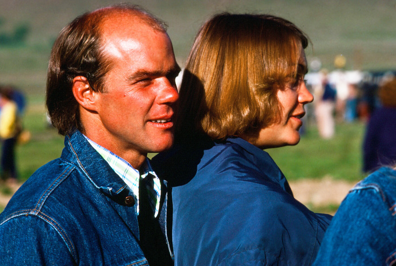 Vic and Candy at the Crested Butte Balloon Fest in 1978, shortly after the birth of their son Andy