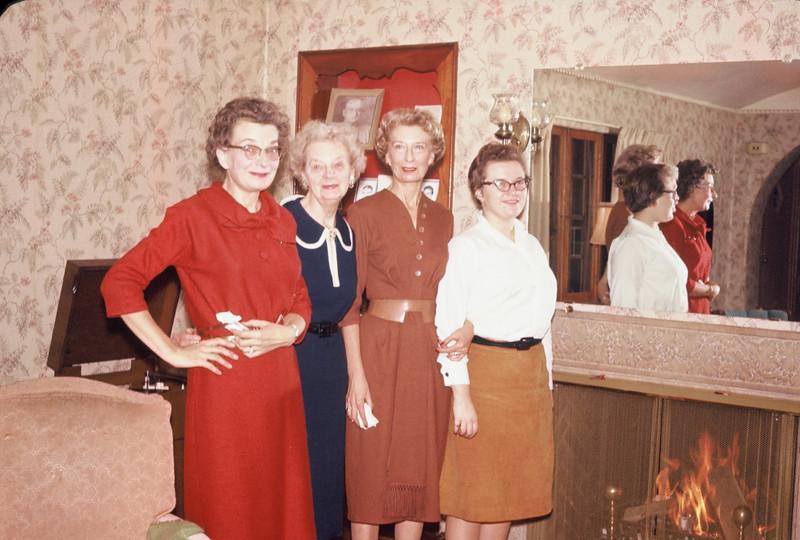 Doris Williams, Anna Doebler, Dell Clark, Pat Williams in Minot House