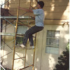 1991 House painting Scott on scaffolding
