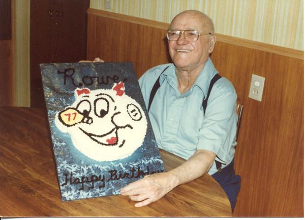 1981 - Rowe at 77