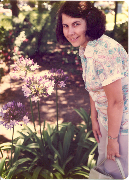 1977 - Jeanette and flowers