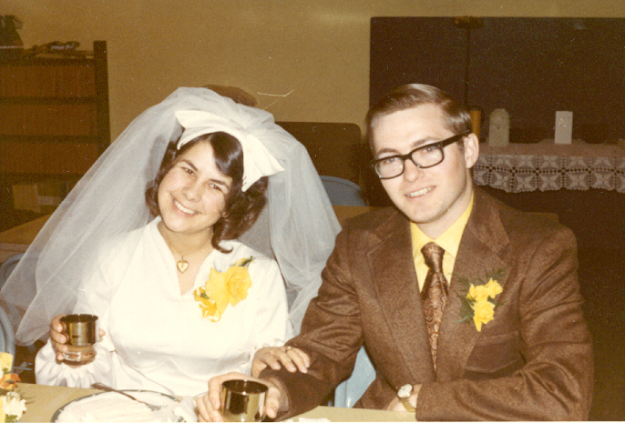 1971 Bob and Jeanette wedding 2
