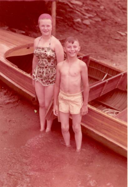 1957 - Pat Bob by boat
