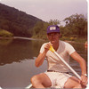 1976 - Bob in canoe on Zumbro River