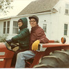 1983 - Scott and Oscar on tractor