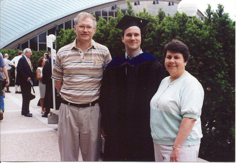Albert graduating from MIT 1999