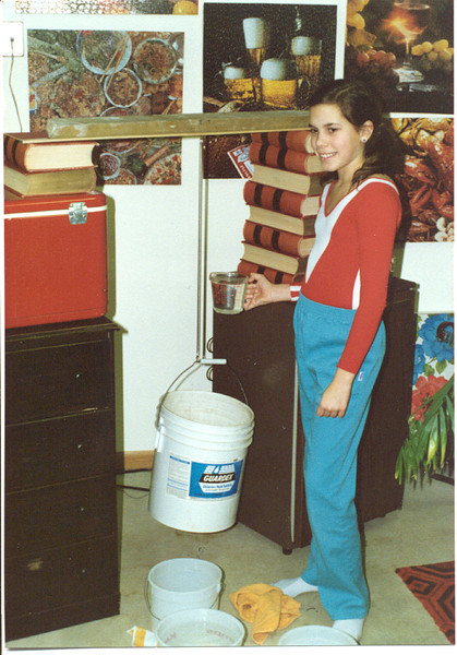 1986 Sandee doing science fair project