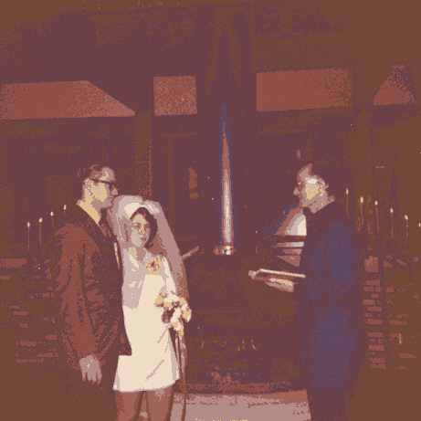 1971 - Bob and Jeanette wedding 4