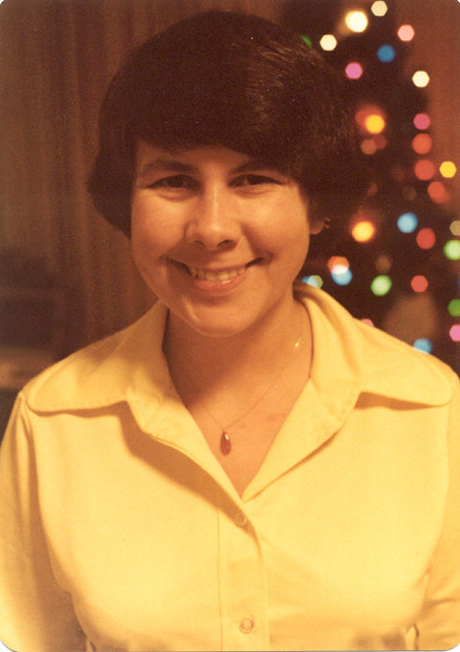 1976 - Jeanette at Christmas