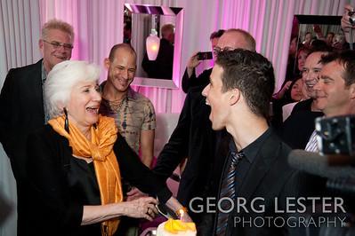 Yigit Pura surprised Olympia with a birthday cake to celebrate her 80th birthday