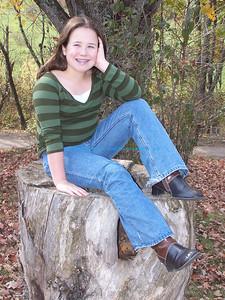 Lindsey on the stump.