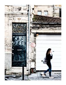 Girl Walking By, Bordeaux, France