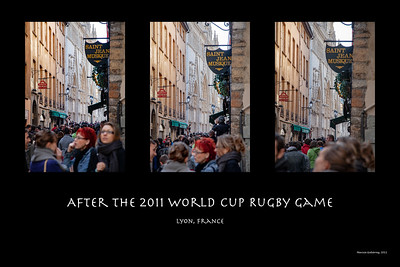 Composite: After the Rugby Game, Lyon France