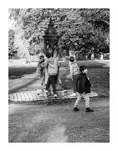 Boys and a Fountain, Bordeaux, France