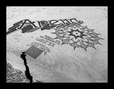 The Sand Painter, San Sebastián, Spain