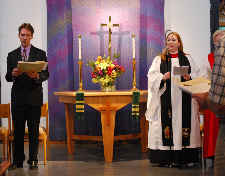 Dr. Dana Marsh, guest organist from Christ Church Cathedral, and Whitney