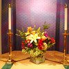 Altar flower arrangement by Coral Hamlin