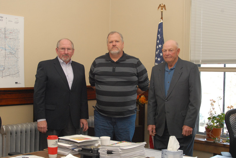 Osage County Commissioners 2013 - Gaylord Anderson, Ken Kuykendall, Carl Meyer.