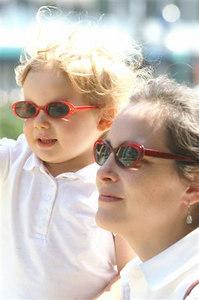 Abigail and Leona, Paris, July 2006