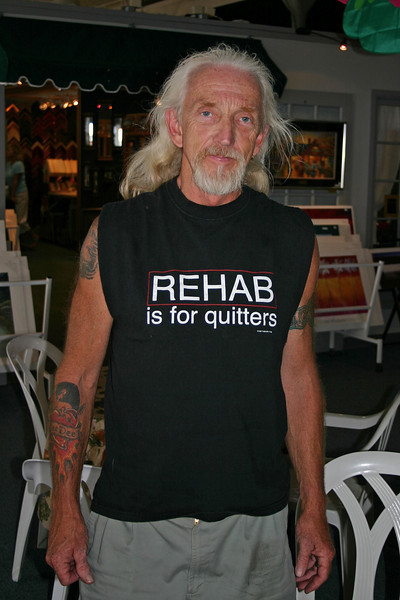 This gentleman crossed my path in a cafe' in downtown Hannibal, Missouri.