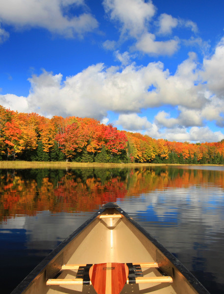 """ Autumn in a Canoe "" 5  Boulder Junction Wisconsin"