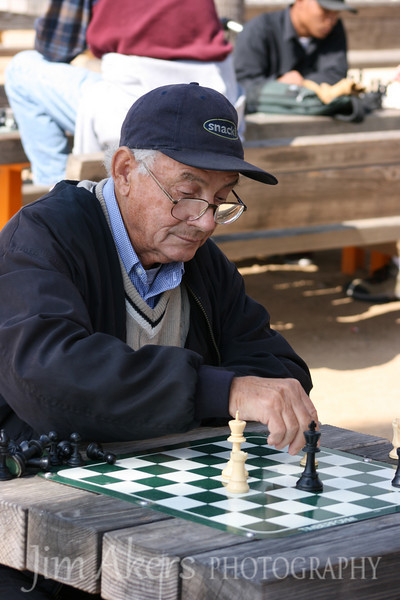 near the end of the game and working to win in the next few moves.