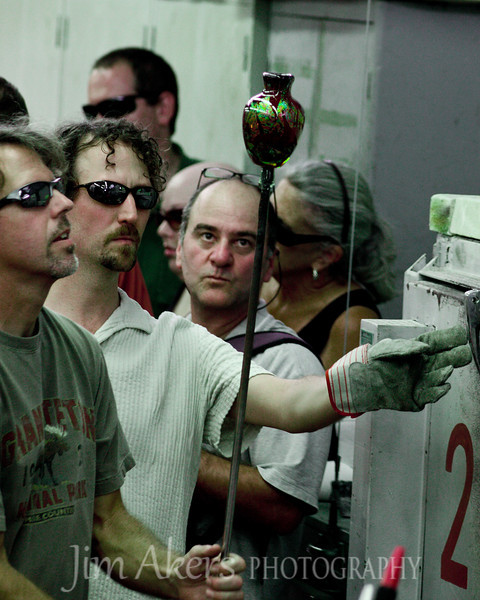 The eyes say it all.  Very intense on the work at hand.  Glass blowing at Santa Monica College in Santa Monica, CA.