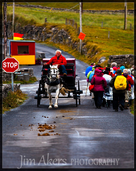 Move aside pilgrims!  Aran Islands, Ireland