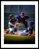 "Costa Mesa fall 2012.  ""Making the Call"" was captured with 70x200 lens from the right field fence. These boys are between 8 and 10 years old. This photo merited in the 2013 Professional Photographers of California competition."